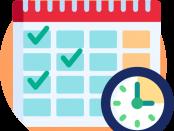 a time-table or calendar