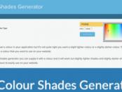 CSS Color Shades Generator